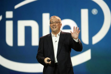 Paul Otellini, president and CEO of Intel Corporation, arrives to give a keynote address during the 2012 International Consumer Electronics