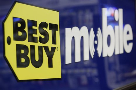 A Best Buy logo is see at the company's store during Black Friday in San Francisco, California, November 23, 2012. REUTERS/Stephen Lam