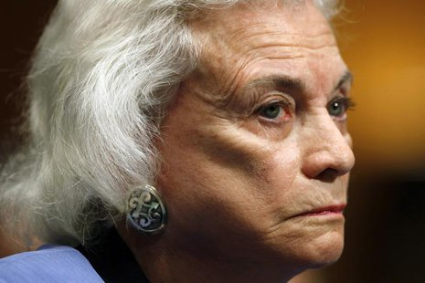 Former Supreme Court Justice Sandra Day O'Connor testifies at a hearing held to provide an update from the Alzheimer's Study Group on Capito