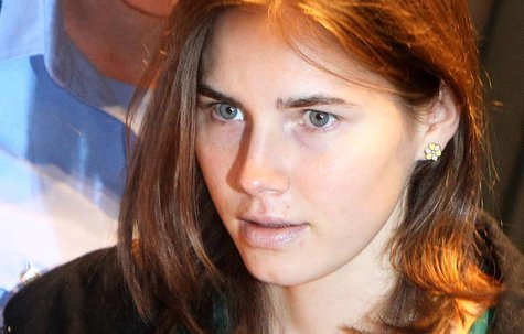 Amanda Knox, the U.S. student convicted of murdering her British flatmate Meredith Kercher in Italy in November 2007, arrives in court for h