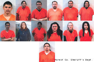 Forest County authorities release names of 35 people tied to drug bust