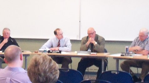 Portage Board met in front of about a dozen citizens who turned out for the meeting.