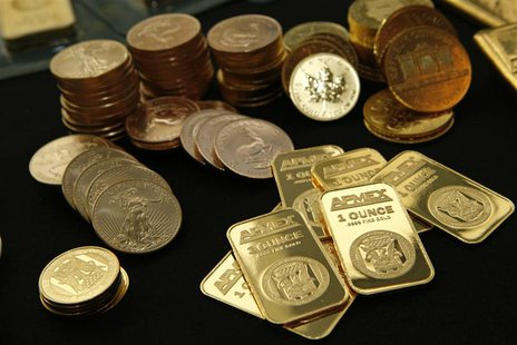 Gold Bullion and coins from the American Precious Metals Exchange (APMEX) is seen in this picture taken in New York, September 15, 2011. REU
