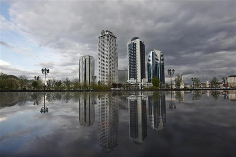 The skyscrapers of the Grozny city complex are seen in the Chechen capital Grozny April 27, 2013. REUTERS/Maxim Shemetov