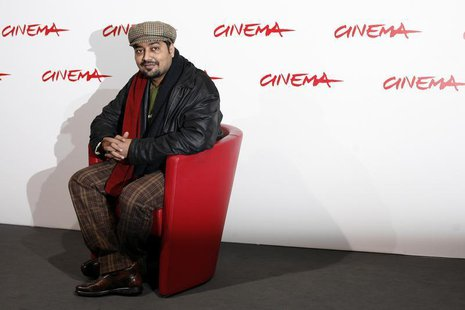"India's movie director Anurag Kashyap poses during a photo call to present his latest movie ""No Smoking"" at the Rome International Film Fest"
