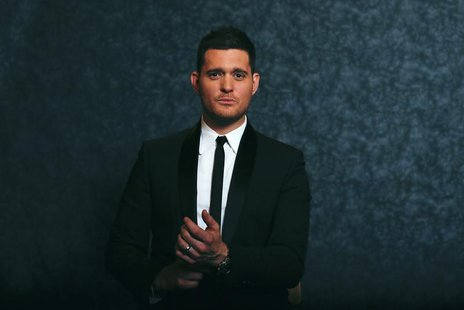 Canadian singer Michael Buble poses for a portrait while promoting his new album 'Michael Buble: To Be Loved' in New York April 25, 2013. RE