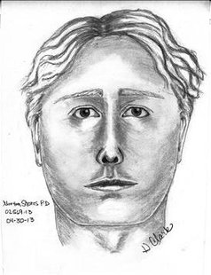 Police Sketch of the suspect believed to be driving a silver mini-van who may have abducted Jessica Heeringa