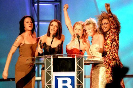 File photo showing the Spice Girls receiving their award at the Brit Awards, the UK's premier music awards at Earls Court in London, souther