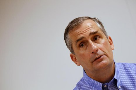 Intel Chief Operating Officer Brian Krzanich is seen during an interview with Reuters at Intel headquarters in Santa Clara, California March