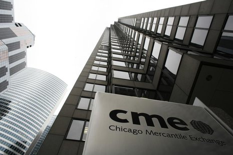 The Chicago Mercantile Exchange is pictured March 17, 2008. REUTERS/John Gress