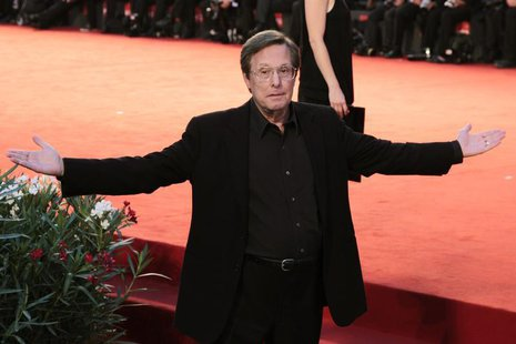 "Director William Friedkin gestures during a red carpet for his film ""Killer Joe"" at the 68th Venice Film Festival September 8, 2011. REUTERS"