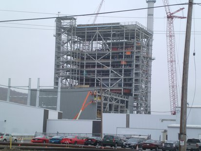 Rothschild Biomass Cogeneration Plant under construction in 2013.