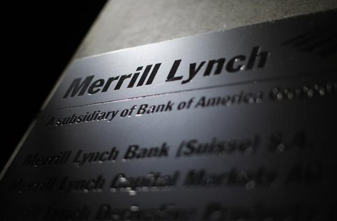 A logo of Merrill Lynch is pictured at a branch in Zurich August 12, 2012. REUTERS/Michael Buholzer
