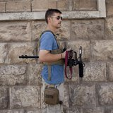 U.S. journalist James Foley is pictured in Aleppo, Syria in August 2012, in this family photo released to Reuters on May 3, 2013. Photo cour