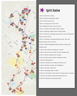 spirit station map 2013 Kalamazoo Marahton