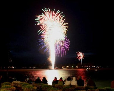 The skies above Lake Macatawa in Holland will be lit up with Tulip Time's fireworks show. (photo courtesy Tulip Time)