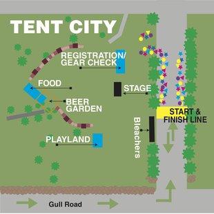 Tent city map