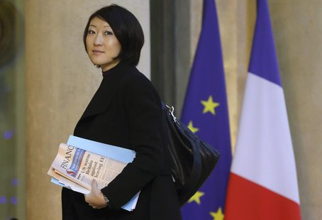 French Junior Minister of Small Business, Innovation, and Digital Economy Fleur Pellerin arrives at the Elysee Palace in Paris to attend a m