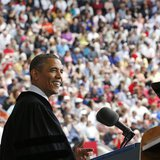 U.S. President Barack Obama delivers remarks to the graduating class of 2013 at Ohio State University in Columbus, May 5, 2013. Obama also r