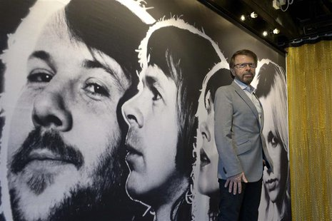 Bjorn Ulvaeus, former member of the Swedish pop group ABBA, is photographed during a press preview of 'ABBA The Museum' at the Swedish Music