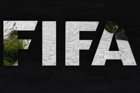 A logo of the International Federation of Football Association (FIFA) is pictured at the Home of FIFA in Zurich July 5, 2012. REUTERS/Michae