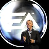 Electronic Arts' Chief Executive Officer (CEO) John Riccitiello introduces their new lineup during the EA press conference as part E3 in Los