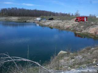 Brown and Door County dive teams search a quarry on Quarry Drive in Pittsfield, Monday, May 6, 2013. (courtesy of FOX 11).