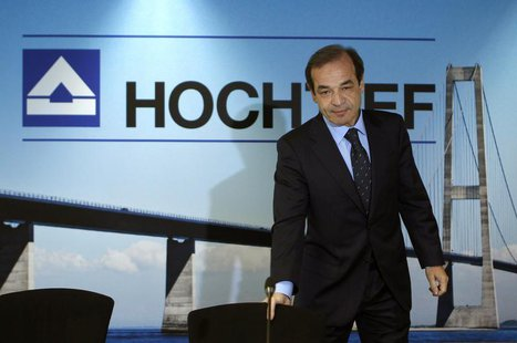 CEO of Hochtief AG, Marcelino Fernandez Verdes arrives for the annual news conference in Duesseldorf February 28, 2013. REUTERS/Ina Fassbend