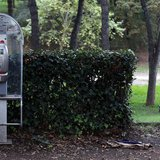 A Telecom Italia call box is seen in a Villa Borghese park in Rome November 12, 2012. REUTERS/Alessandro Bianchi