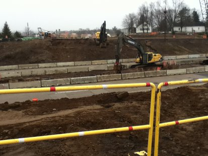 Work continues in Wausau where the old Highway U bridge used to cross Highway 51.