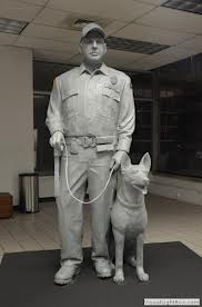 Brent Long and Shadow by Bill Wolfe clay statue before being cast in bronze