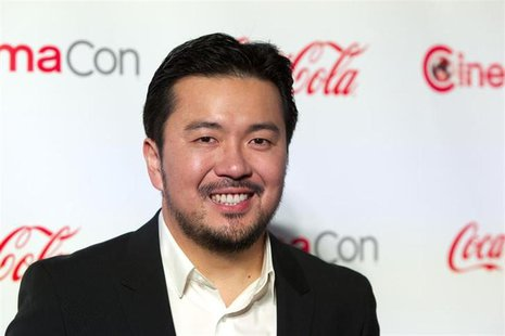 Director Justin Lin, recipient of the Director of the Year Award, arrives at the CinemaCon awards ceremony at Caesars Palace in Las Vegas, N