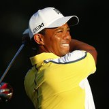 Tiger Woods of the U.S. watches his tee shot on the 10th hole during a practice round before The Players Championship PGA golf tournament at