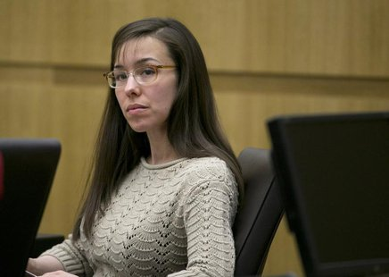 Jodi Arias is pictured during her trial at Maricopa County Superior