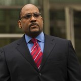 New York State Senator John Sampson leaves the Brooklyn Federal Court in Brooklyn, New York, May 6, 2013. REUTERS/Eduardo Munoz
