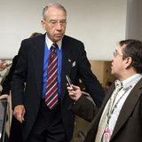Senator Charles Grassley, (R-IA), speaks to a reporter on Capitol Hill in Washington November 13, 2012. REUTERS/Joshua Roberts