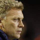 Everton's coach David Moyes watches ahead of their English Premier League soccer match against West Bromwich Albion at Goodison Park in Live
