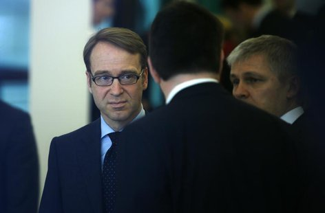 President of Germany's Bundesbank Jens Weidmann arrives for the Frankfurt Finance Summit in Frankfurt March 19, 2013. REUTERS/Lisi Niesner