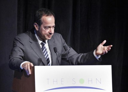 President and Portfolio Manager of Paulson & Co. John Paulson speaks during the Sohn Investment Conference in New York, May 16, 2012. REUTER