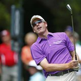 Roberto Castro of the U.S. watches his tee shot on the eighth hole during the first round of The Players Championship PGA golf tournament at