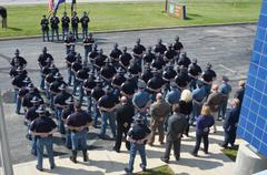 Indiana State Police Troopers At Memorial Service At Putnamville Post