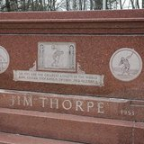 The Jim Thorpe Memorial in Jim Thorpe, Pennsylvania on April 24, 2013. REUTERS/Joe McDonald