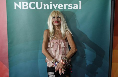"Fashion designer Betsey Johnson, co-host of ""XOX Betsey Johnson"", arrives at the 2013 NBCUniversal Summer Press Day at The Langham Huntingto"