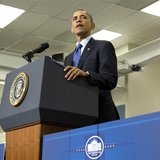 U.S. President Barack Obama delivers remarks on jobs during a visit to Applied Materials in Austin, Texas, May 9, 2013. REUTERS/Joshua Rober