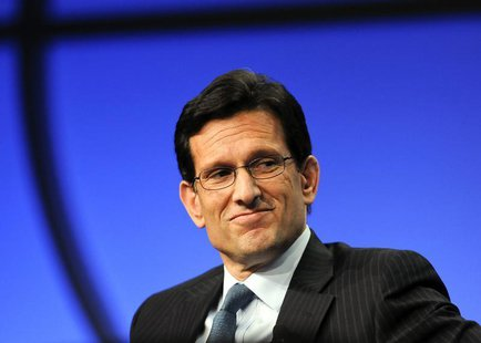 "U.S. Congressman and House Majority Leader Eric Cantor (R-VA) takes part in a panel discussion titled ""The Awesome Responsibility of Leaders"