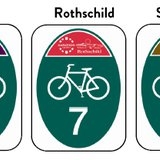 The new sign format for the Wausau Metropolitan Bike Routes