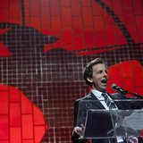 TV Personality Seth Meyers speaks at the Robin Hood Foundation Benefit at the Jacob K Javits Convention Center in New York May 14, 2012 file