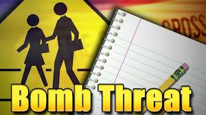 School bomb threat graphic