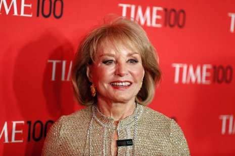 Journalist Barbara Walters arrives for the Time 100 gala celebrating the magazine's naming of the 100 most influential people in the world f