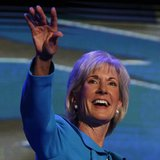 U.S. Secretary of Health and Human Services Kathleen Sebelius addresses the first session of the Democratic National Convention in Charlotte